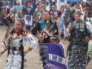 Sacred Visions Pow-Wow dancing photo 1