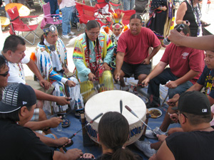 Sacred Visions Pow-wow drum rules photo